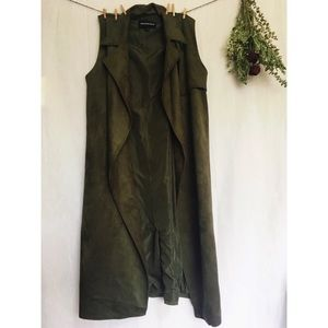 Who what wear army green trench vest